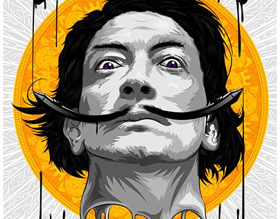 Salvador Dalí - Retrato Vectorial