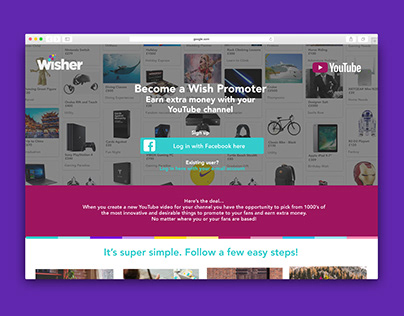 Wisher UI / UX design
