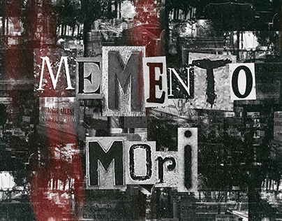 Memento Mori - Graveyard Typography Project