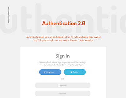 Freebie: User Authentication Kit