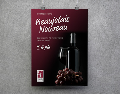 BEAUJOLAIS NOUVEAU | Restaurant Event Poster Design