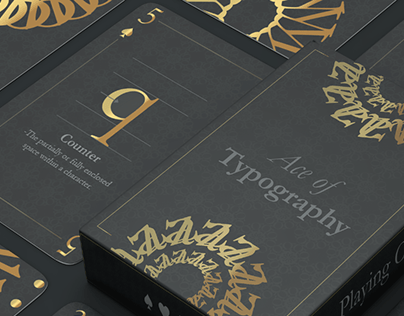 Typographic Deck |Playing Cards Design
