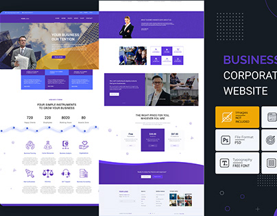 Corporate business landing page