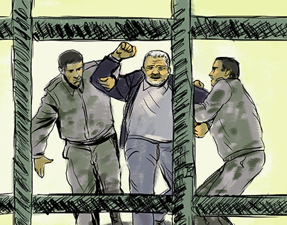 Mukhtarli, dissident journalist (drawings/video)