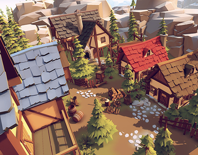 """Low poly"" (stylised/cartoon) 3d asset pack"