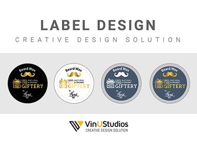 Beard Wax Label Design