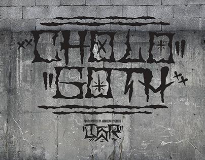 Cholo Goth Hand Drawn Font