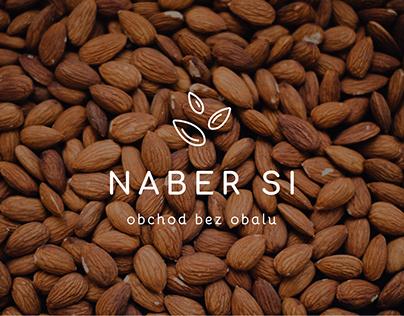 Naber si | Zero waste shop identity