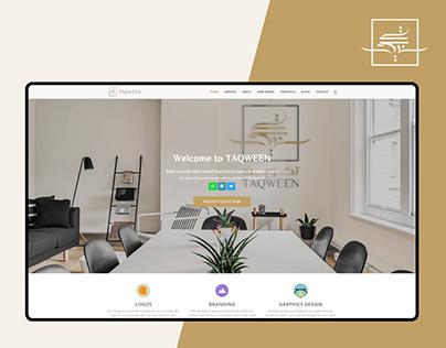 Taqween UX/UI Website design - Landing page