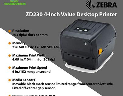 Affordable ZD230 4-Inch Value Desktop Printer