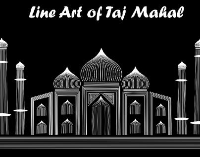 LINE ART OF TAJ MAHAL