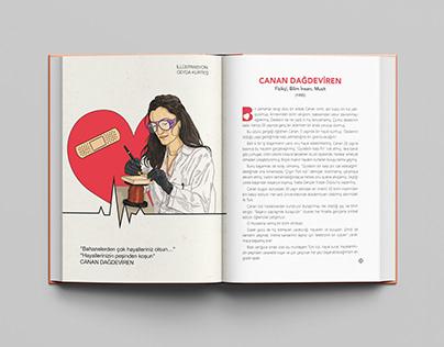 """""""Cesur Kızlara Yol Arkadaşları"""" Book Illustration"""