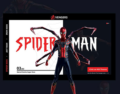Avengers webpage design concept