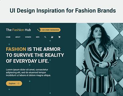 The Fashion Hub: UI Design for Fashion Brands | UI/UX
