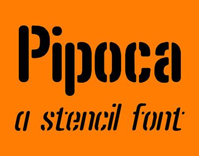 Pipoca Stencil Font