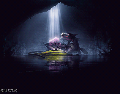 Cave Beast | MattePainting