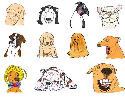 iMessage Dog Stickers