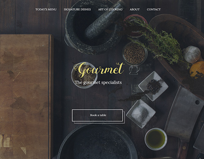 Gourmet Restaurant Website
