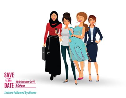 Invitation Card La Femme KV theme