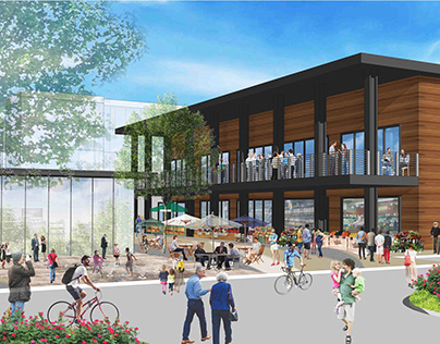 Cambrian Park Plaza Conceptual Rendering