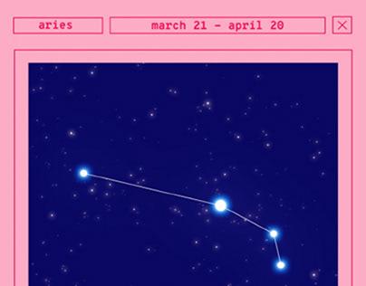 costellazioni segni zodiacali animate