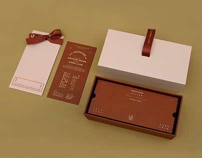 Cherish Box and Wedding Invitation Pack 手提婚禮伴手禮盒與請帖組