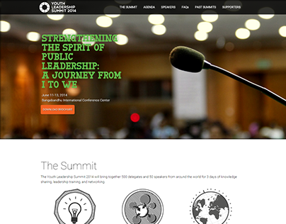 Youth Leadership Summit 2014 - Landing Page