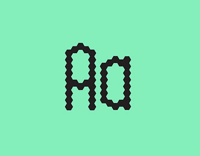 Hexagon Mosaic Typeface