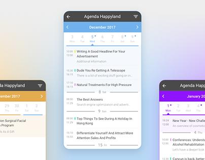 Agenda UI Design for mobile app