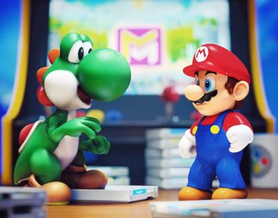 Yoshi and Mario - 3D Design