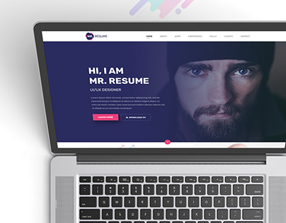 Mr. Resume free one page psd