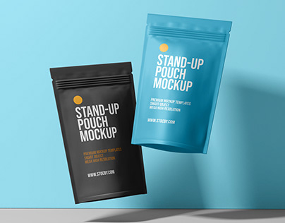 Pouch Packaging Design Mockup Template Download