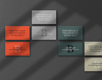 Business Card Design Template for Real Estate Agents.