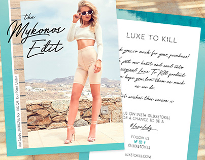 Luxe to Kill: Mykonos Campaign Artwork