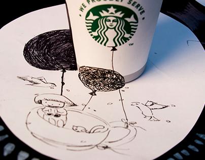 Starbucks Cup Drawings