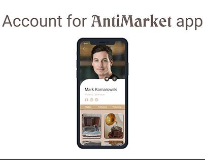Account for AntiMarket app
