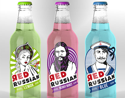 contemporary label design for a ready-to-drink alcopop