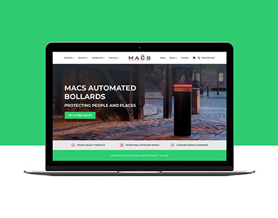 Macs Bollards - Homepage Header Re-design