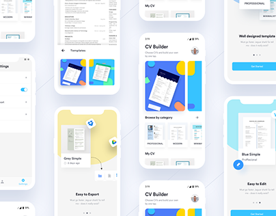 Ezy CV/Resume Builder Mobile App