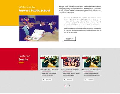 Wordpress theme - Forward Public School