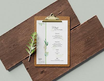 One Page and menu design - Restaurant Basaguren