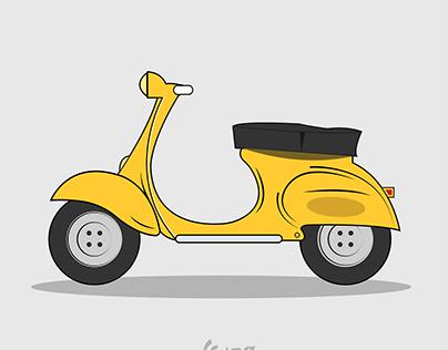 Vespa Illustration Design