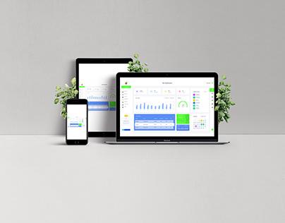 Analytics Chart screen design for website & webapp
