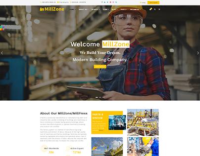 MillZone Insdustry & Factory Base HTML Template