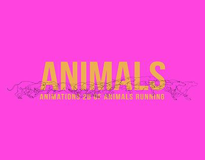 Animations 2D of animals running