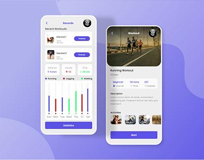 Trending 🏋️♂️ Fitness App UI Design