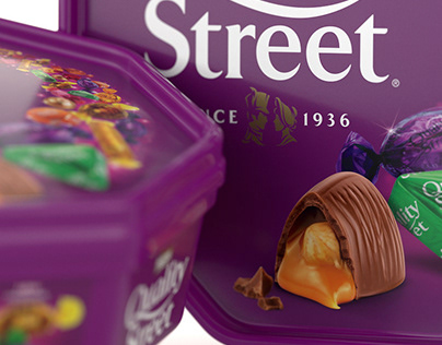 3D Quality Street Chocolates & Toffees - Packaging