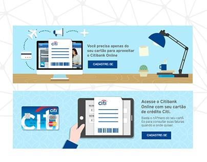Propuestas de animaciones para página interna de Citi