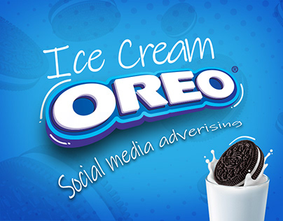 Oreo ice cream social media design
