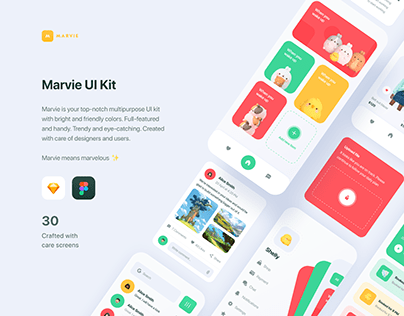 Marvie iOS App UI Kit